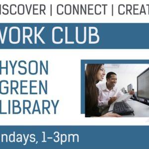 Hyson Green Work Club: Every Monday, 1-3pm